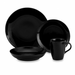 Black Coupe Dinnerware