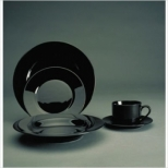 Black Rim Dinnerware