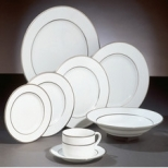 Double Silver Line Dinnerware