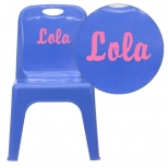 Personalized Kids Plastic Chairs