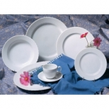 White Wicker Dinnerware